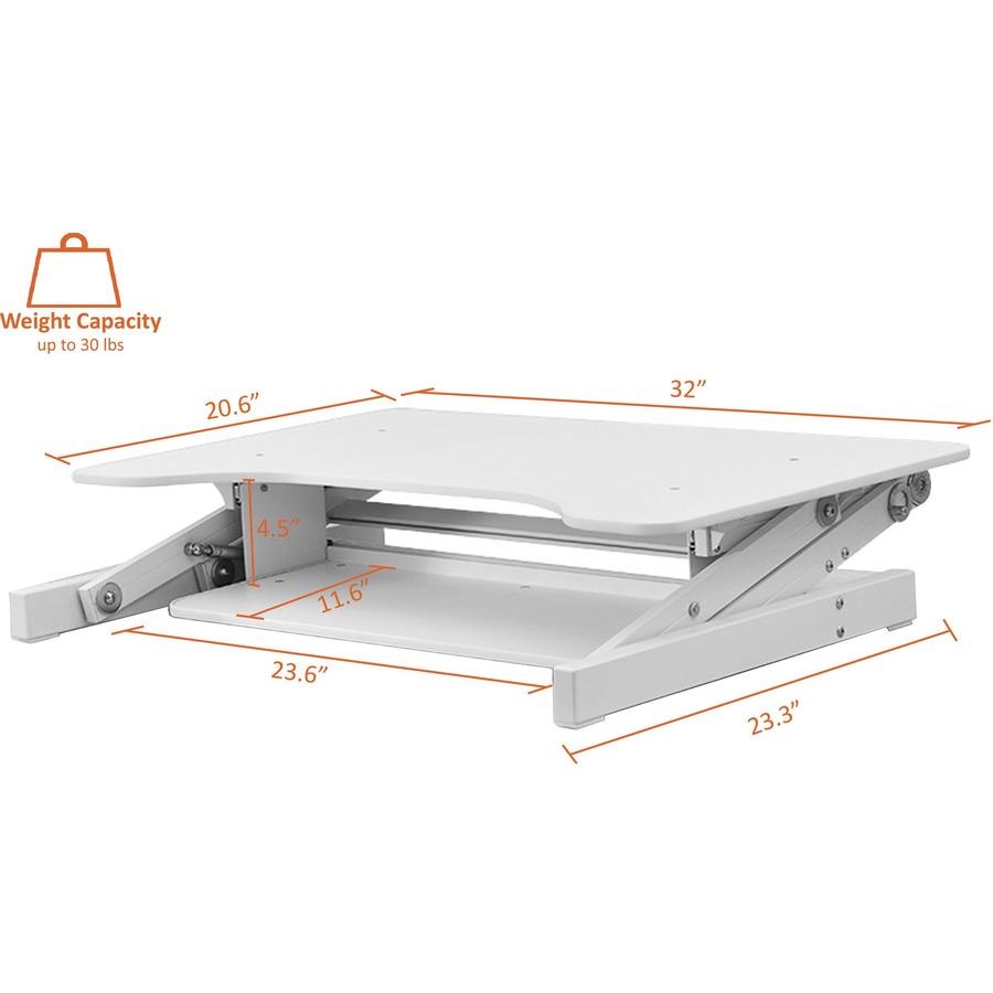 Lorell Large Worksurface Adjustable Desk Riser 16