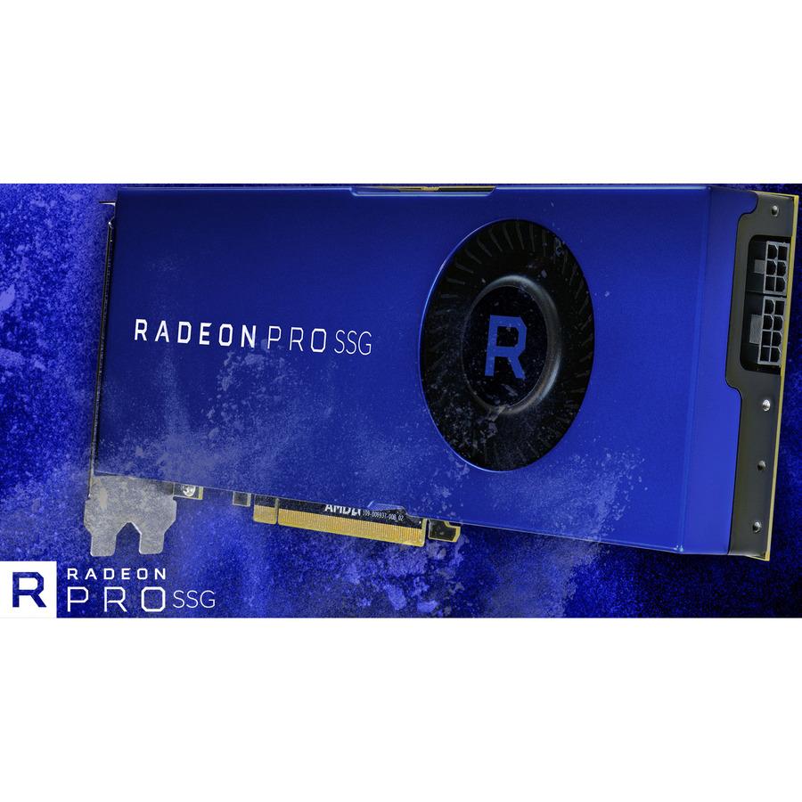AMD Radeon Pro SSG Graphic Card - 16 GB - 1 50 GHz Core - 2048 bit Bus  Width - DisplayPort
