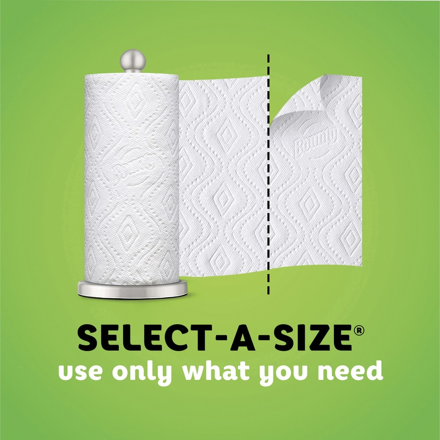 Bounty Select-A-Size Paper Towels - 2 Ply - 83 Sheets/Roll - White - For Kitchen - 996 Quantity Per Carton - 12 / Carton