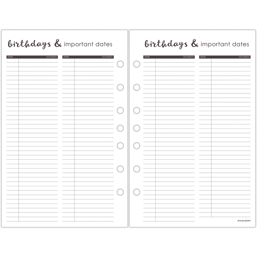 at a glance harmony 1 page per daily monthly planner refill julian