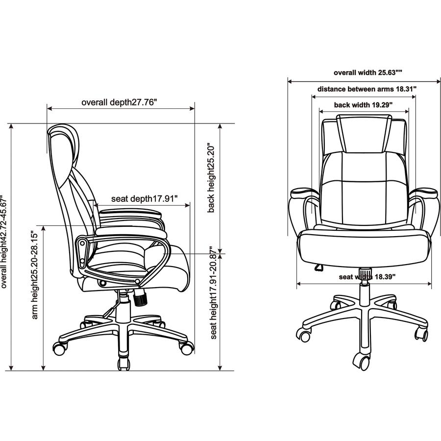 Stupendous Lorell Soho High Back Leather Executive Chair Bonded Evergreenethics Interior Chair Design Evergreenethicsorg