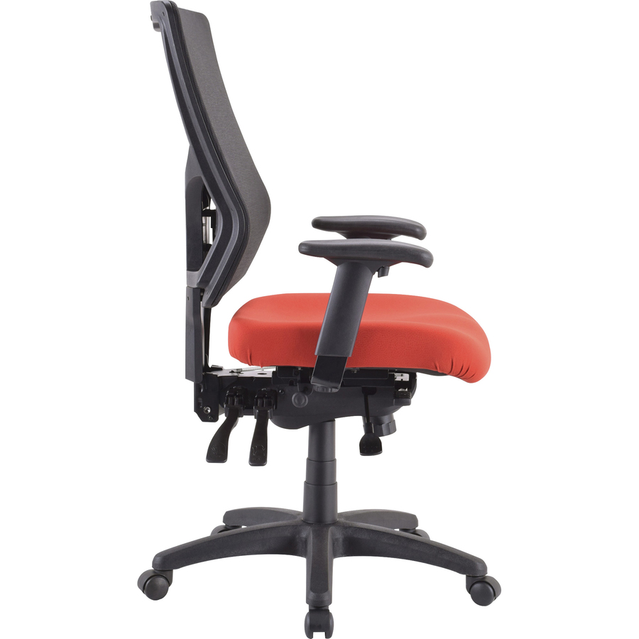 Lorell LLR62006 High//Mid-Back Padded Fabric Chair Seat Navy Blue