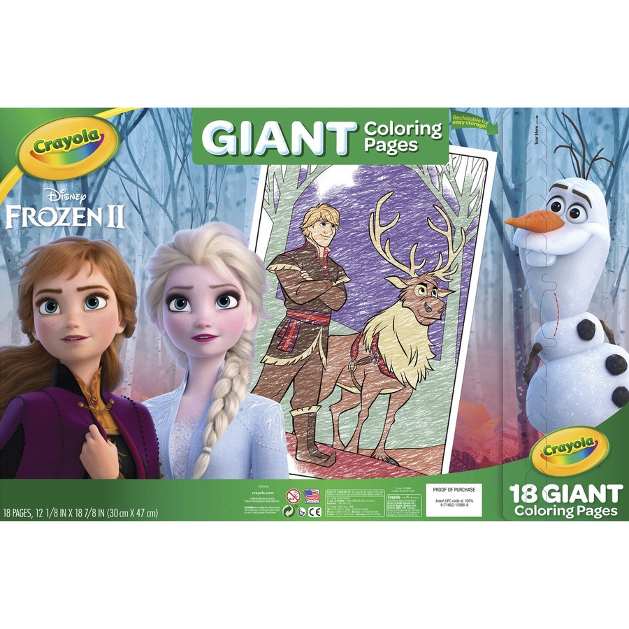 Crayola Giant Coloring Pages Frozen 2 - colouring mermaid