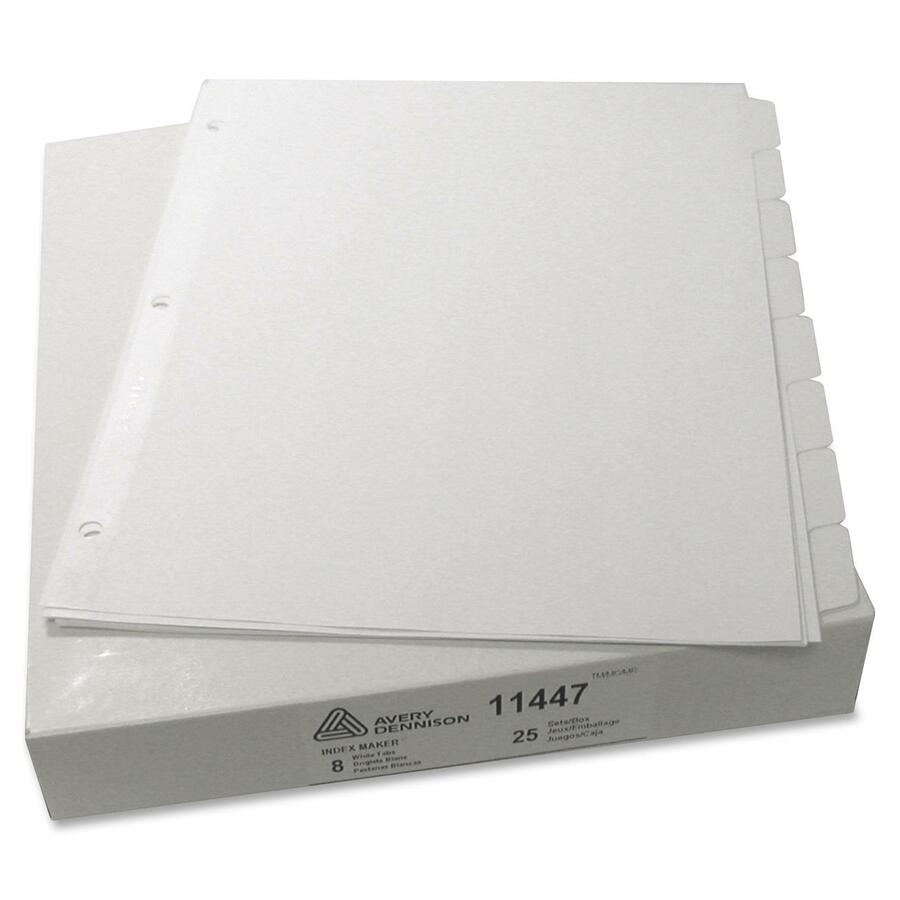 Avery index maker print apply clear label dividers with for Avery 3 tab dividers
