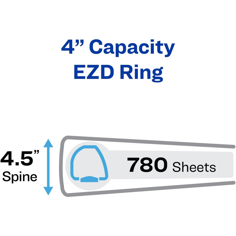Avery® Heavy Duty Binders with One Touch EZD Rings - 4