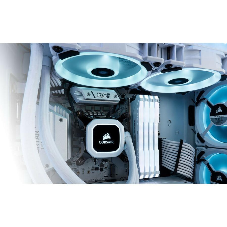 Corsair LL120 Cooling Fan - 120 mm - 2200 rpm63 CFM - 36 dBA Noise - Hydraulic Bearing - RGB LED