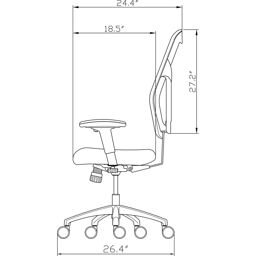 Surprising Llr 85036 Lorell Mid Back Executive Chair Lorell Furniture Evergreenethics Interior Chair Design Evergreenethicsorg