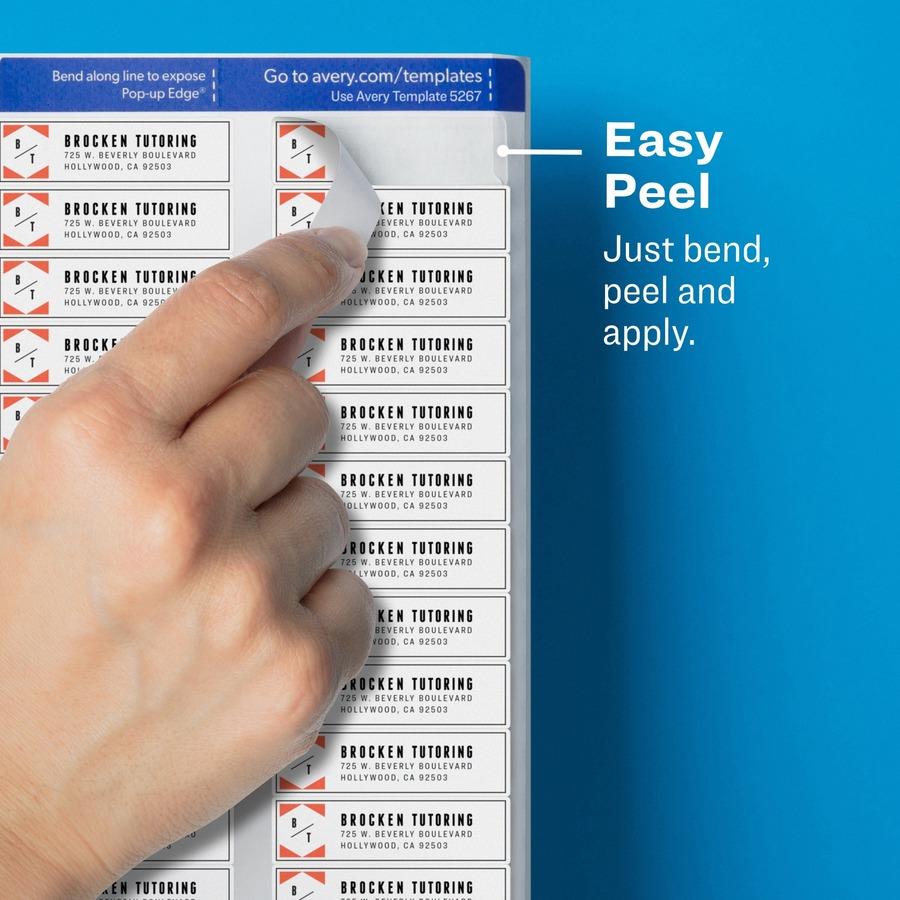 avery easy peel return address label winklers office city