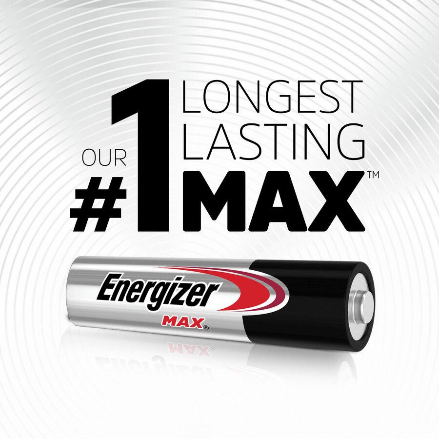 Energizer MAX Alkaline AAA Batteries, 16 Pack - For Multipurpose - AAA - 1.5 V DC - Alkaline Manganese Dioxide - 16 / Pack