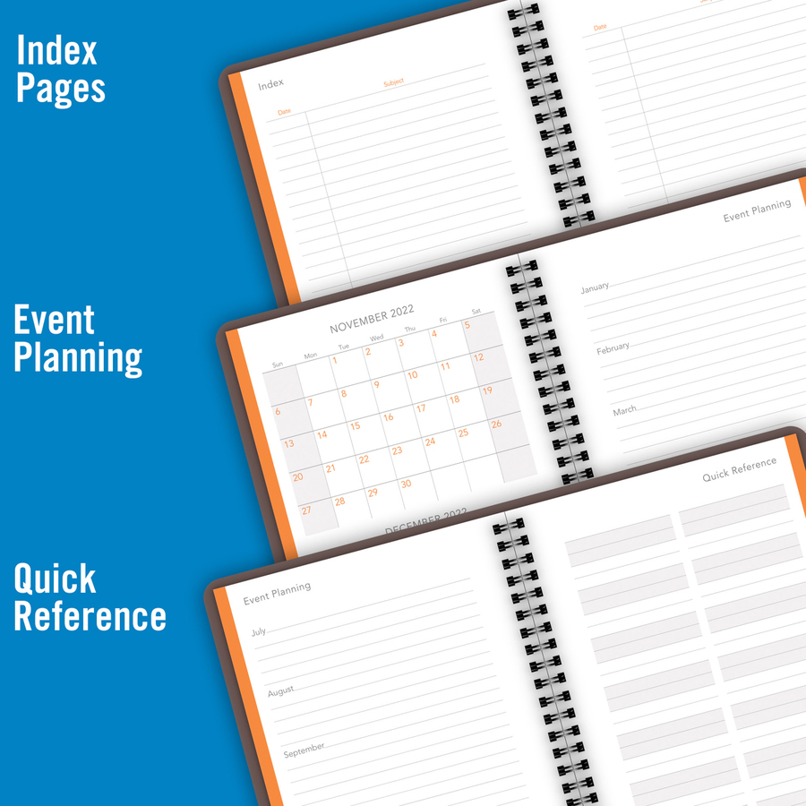 at-a-glance planning notebook lined with monthly calendars - yes - daily - 1 year