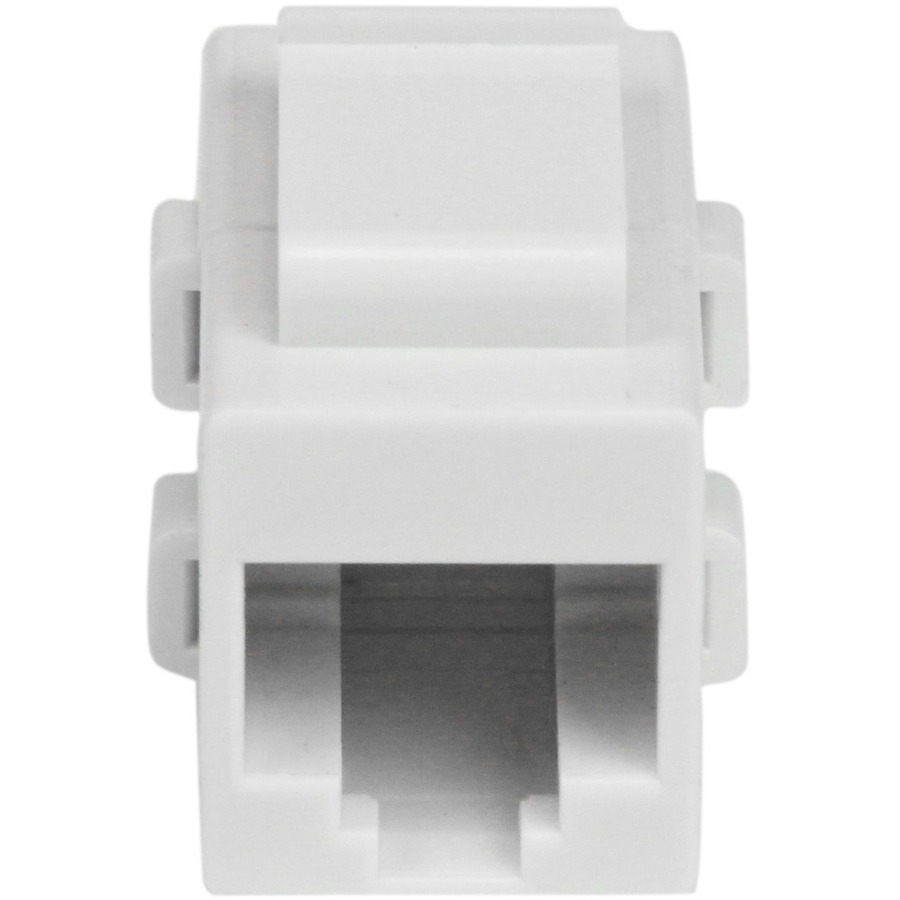 StarTech.com White Cat 6 RJ45 Keystone Jack Network Coupler - F/F - 1 x RJ-45 Female Network - White