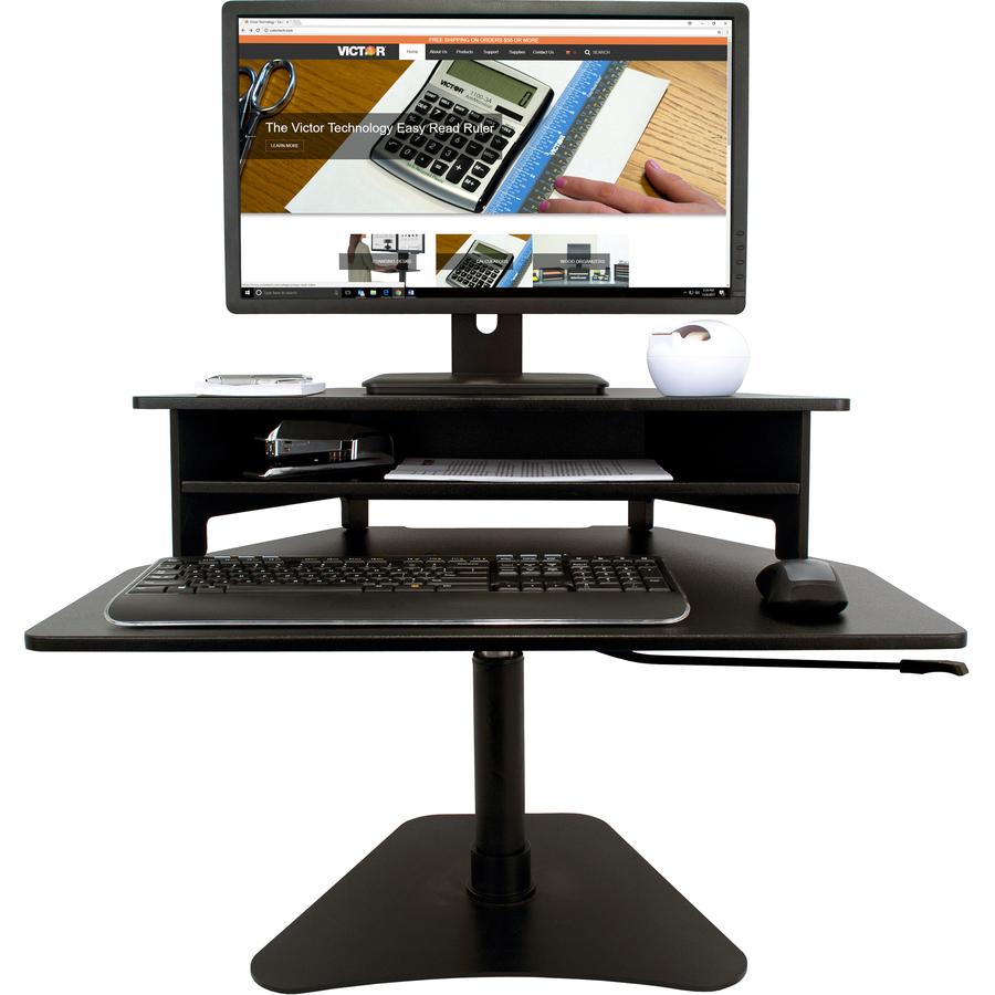 Victor High Rise Adjustable Stand Up Desk Converter