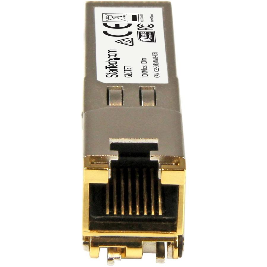 StarTech.com Gigabit RJ45 Copper SFP Transceiver Module - Cisco GLC-T Compatible SFP - 1000Base-T