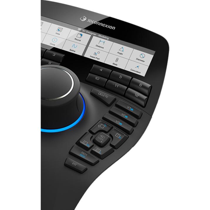 3Dconnexion SpaceMouse Enterprise 3D Input Device - Cable - 31 Buttons