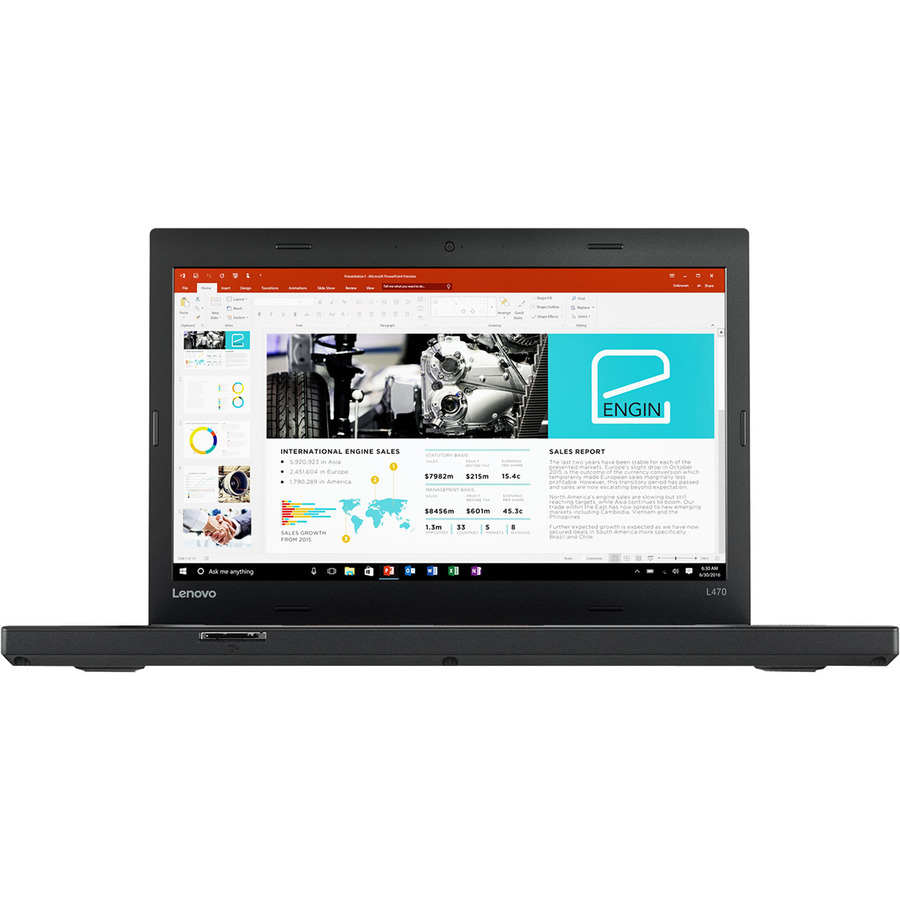 Lenovo ThinkPad L470 20J4000NUK 35.6 cm 14inch LCD Notebook - Intel Core i5 7th Gen i5-7200U Dual-core 2 Core 2.50 GHz - 4 GB DDR4 SDRAM - 500 GB HDD - Windows 10