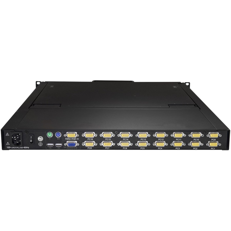 StarTech.com RKCONS1916K LCD Rack Console KVM Switch - 16 Computers - 48.3 cm 19inch LCD - SXGA - 1280 x 1024 - 2 x PS/2 Port - 2 x USB - 1 x VGA - 17 - Daisy Chain