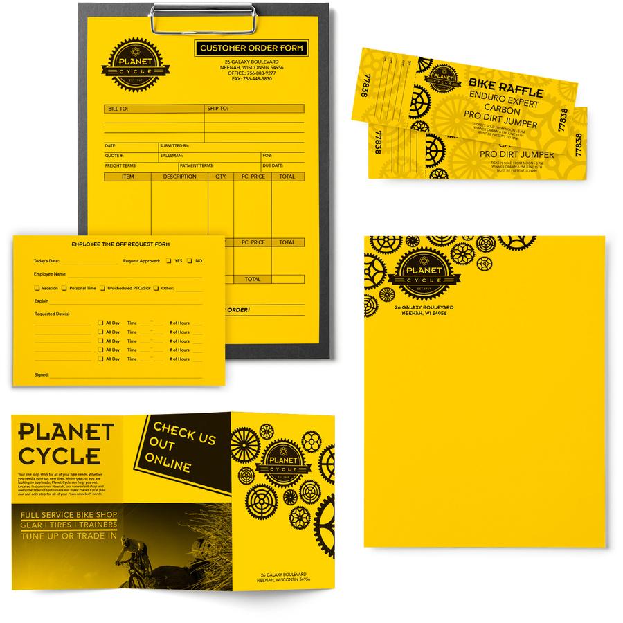 24lb Neenah Paper 22531 Color Paper 8 1//2 x 11 500 Sheets Solar Yellow