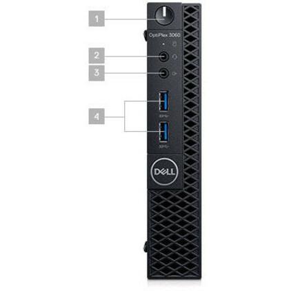 Dell OptiPlex 3000 3060 Desktop Computer - Core i5 i5-8500T - 4 GB RAM - 500 GB HDD - Micro PC - Black