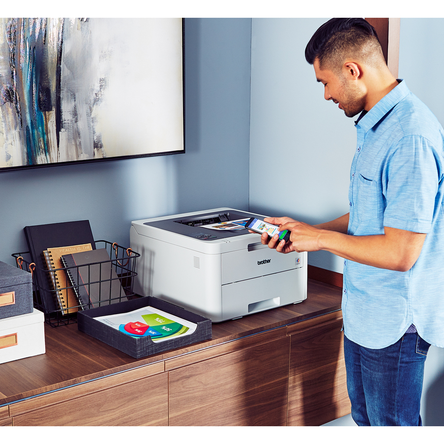 Brother HL-L3210CW Compact Digital Color Printer Providing Laser Quality  Results with Wireless - 19 ppm Mono / 19 ppm Color - 600 x 2400 dpi Print -  A