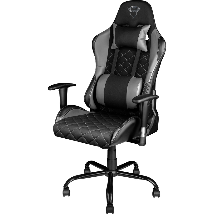 Trust GXT 707G Resto Gaming Chair (Grey)   Ergonomic Adjustable Gaming Chair  Designed For Hours Of Comfortable Gaming Sessions