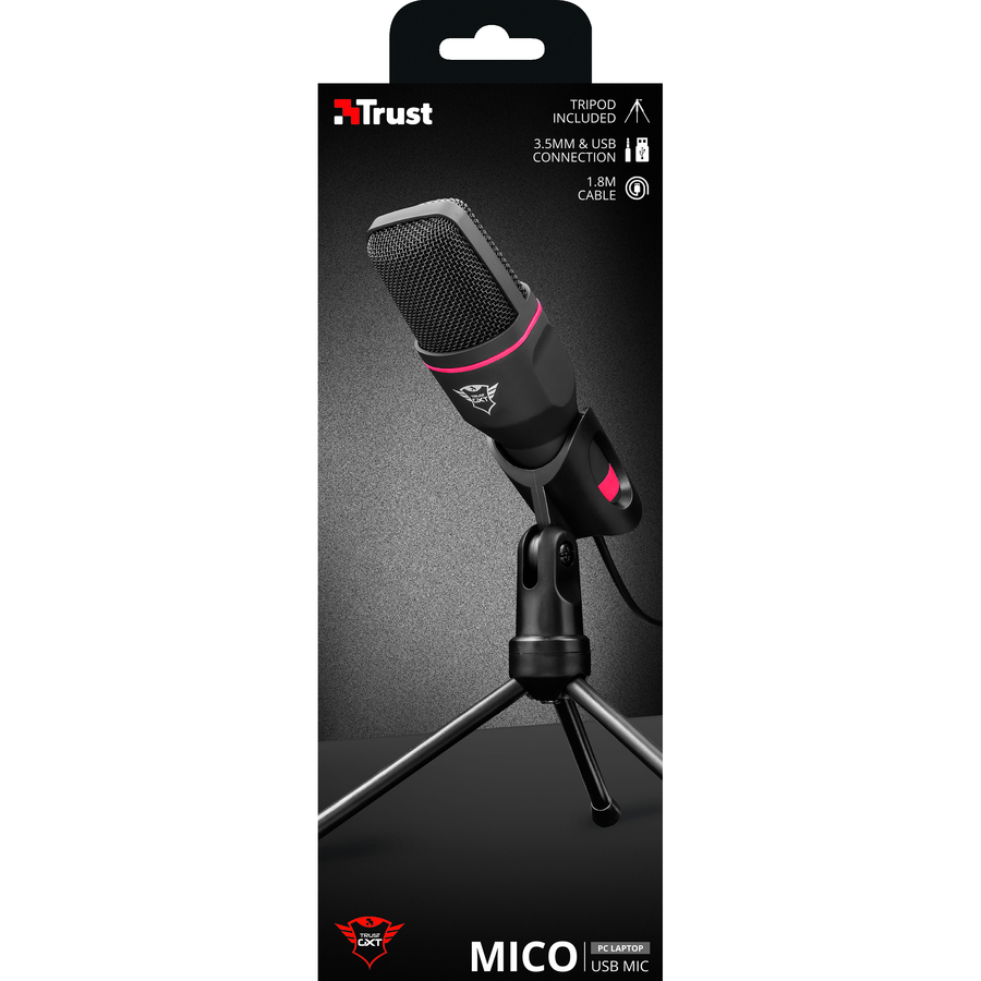 Trust GXT 212 Mico USB Microphone - High Performance, USB Microphone on  Tripod Stand that Works With 3 5 mm and USB Connections - Newegg com