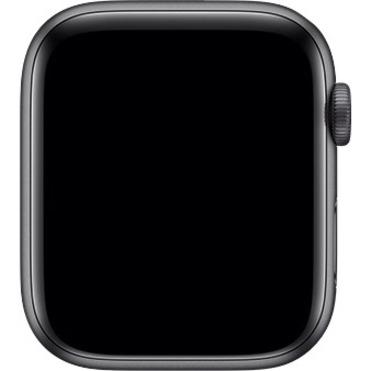 Apple Watch Series 5 Smart Watch - Wrist Wearable - Space Gray Aluminum Case - Black Band - Aluminium Case