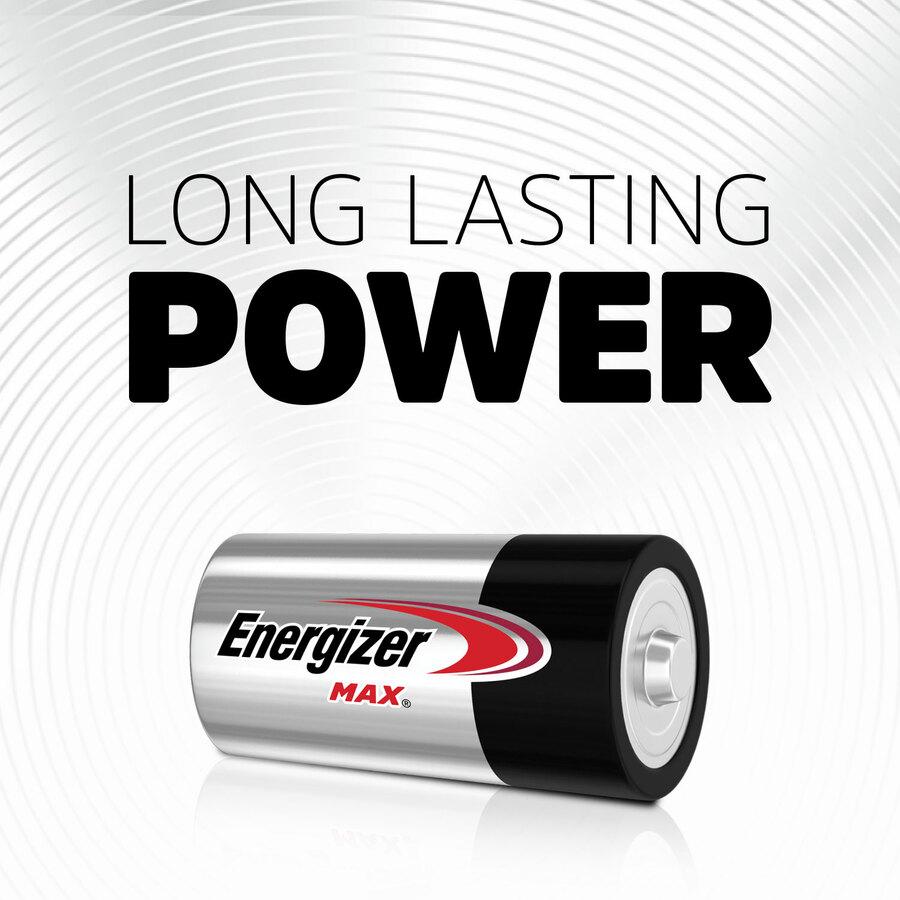 Energizer MAX Alkaline C Batteries, 8 Pack - For Multipurpose - C - 1.5 V DC - Alkaline - 8 / Pack