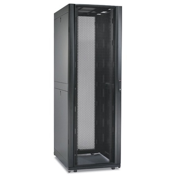 APC by Schneider Electric NetShelter AR3150 42U Rack Cabinet - 482 60 mm  Rack Width - Black - 1020 58 kg Dynamic/Rolling Weight Capacity - 1360 78  kg