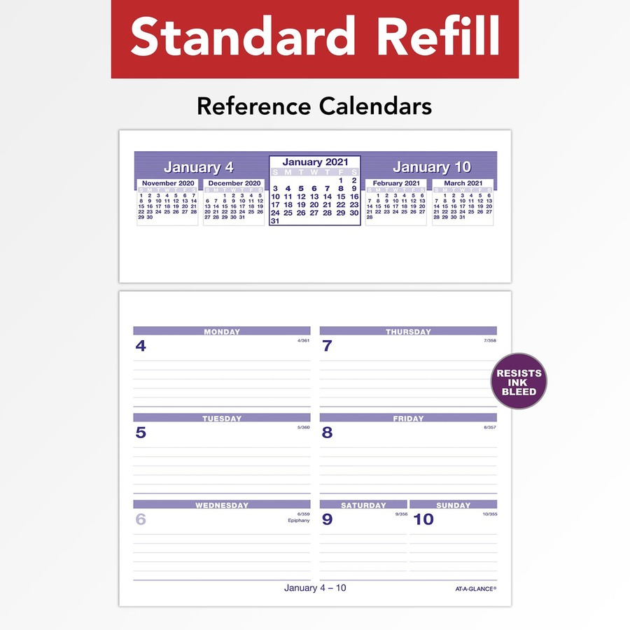 Calendar December 2019 January 2020.At A Glance Flip A Week Desk Calendar Refill Yes Weekly 1 Year