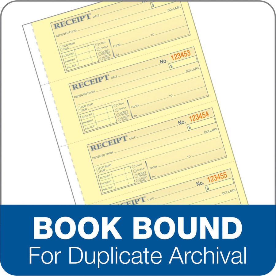 Adams Tapebound 3-part Money Receipt Book - 100 Sheet(s
