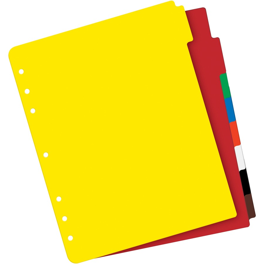 Avery Write-On Tab Plastic Dividers w//White Labels 8-Tab Letter 23084