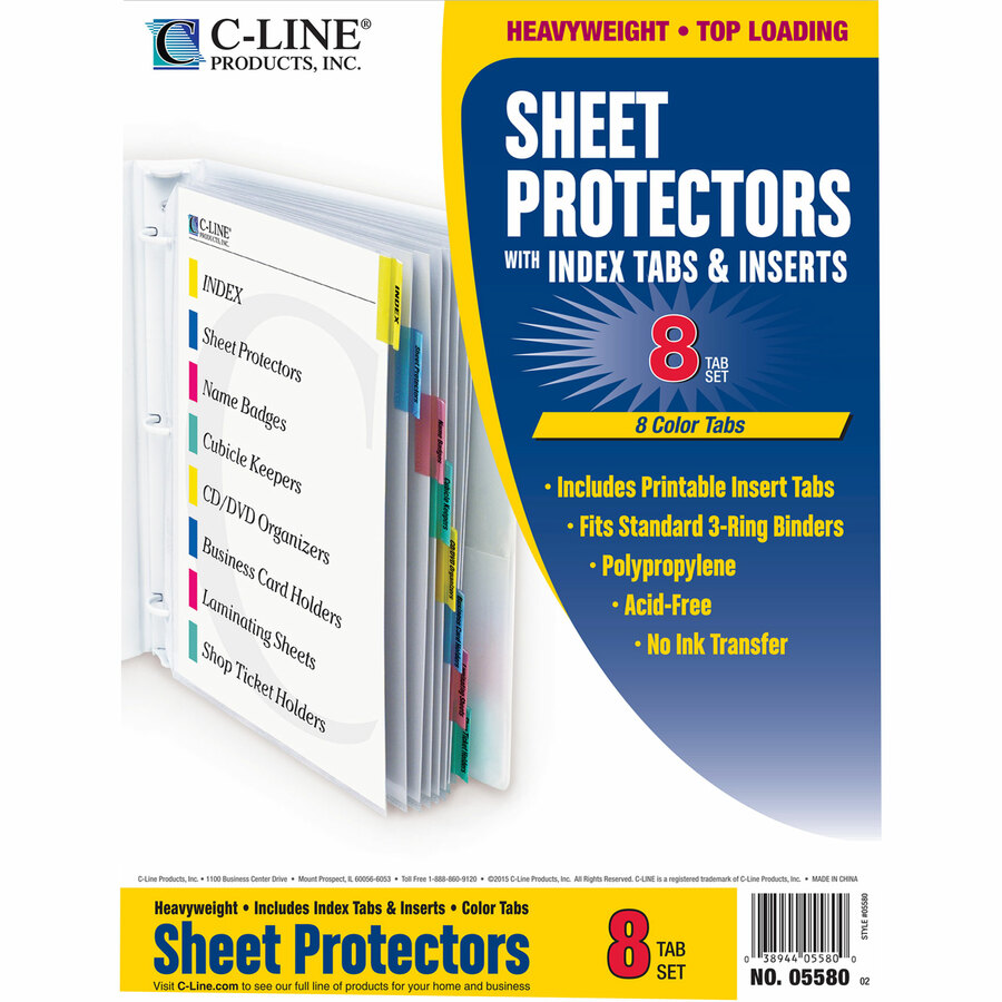 CLI05580 C-Line Top Loading Sheet Protector   Office Advantage