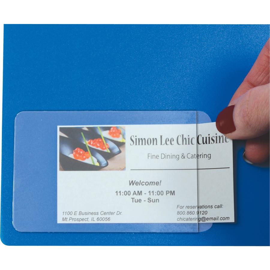 "c line side load business card holder 2"" x 3 5"" poly 10"