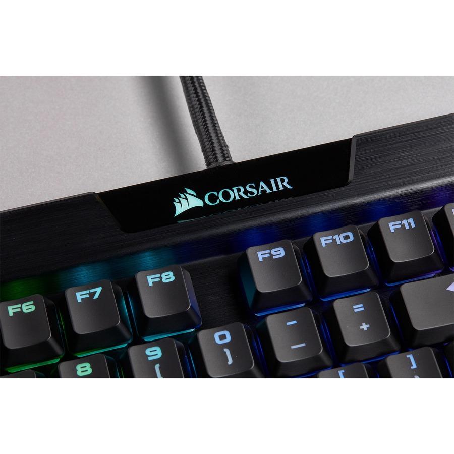 Corsair K70 Gaming Keyboard - Cable Connectivity - USB 2.0 Type A Interface - English UK - Black - Mechanical Keyswitch - 105 Key - PC, Windows
