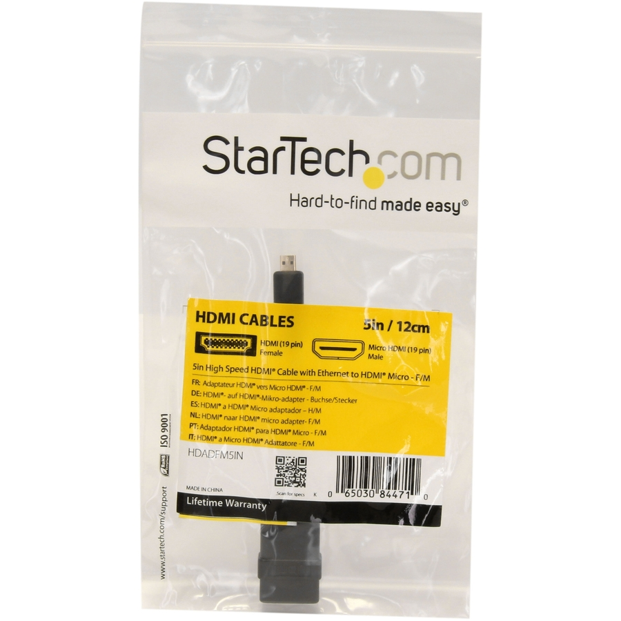 StarTech.com 5in High Speed HDMI Adapter Cable - HDMI to HDMI Micro - F/M - HDMI for Audio/Video Device