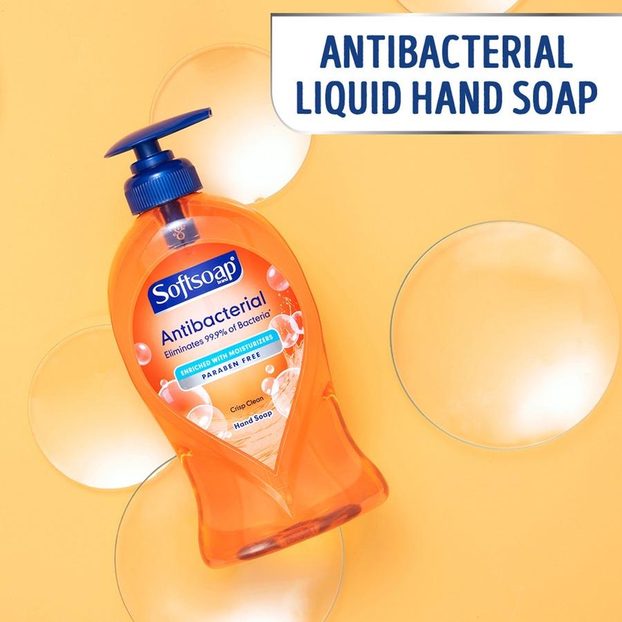 Softsoap Antibacterial Liquid Hand Soap Refill Crisp Clean Scent 1 Gal 3 8 L Kill Germs Hand