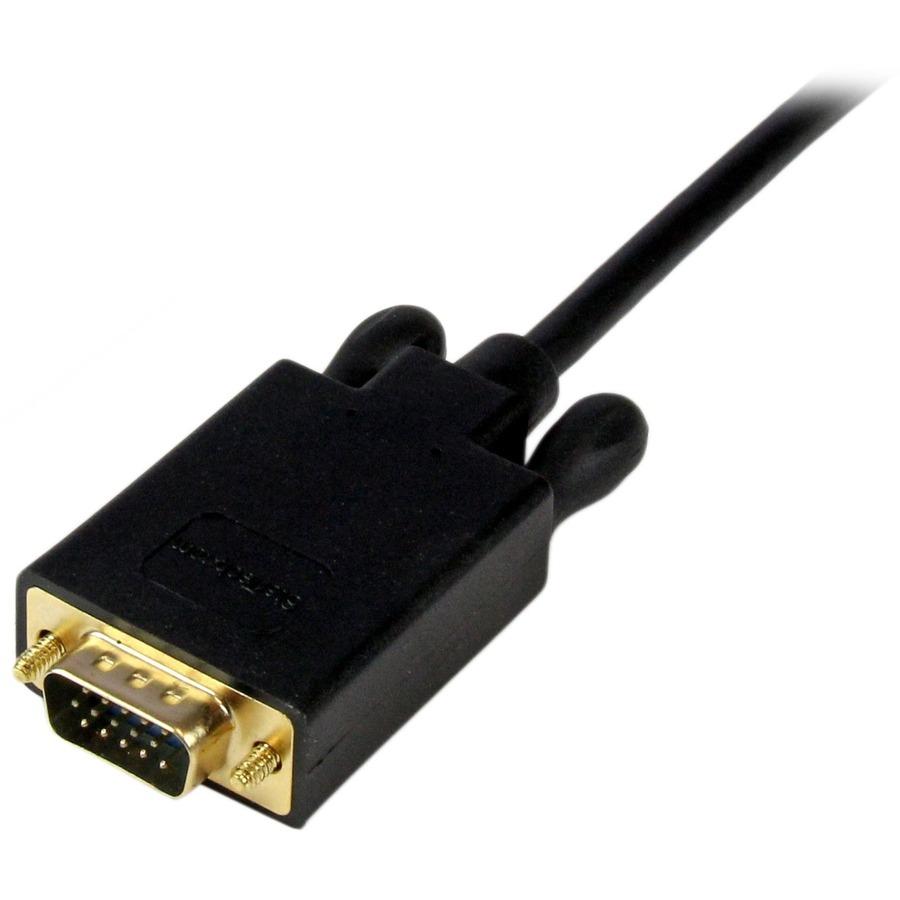 StarTech.com 3 ft Mini DisplayPort to VGAAdapter Converter Cable - mDP to VGA 1920x1200 - Black