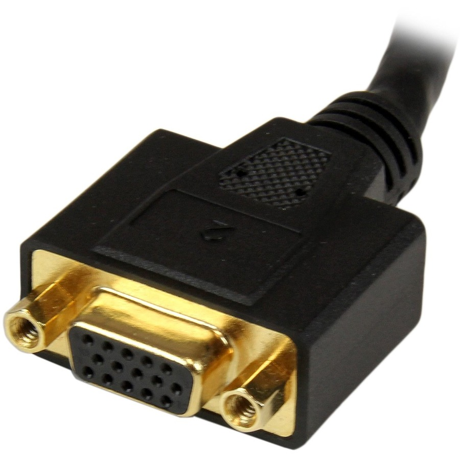 StarTech.com 8in DVI-I Male to DVI-D Female and HD15 VGA Female Wyse DVI Splitter Cable