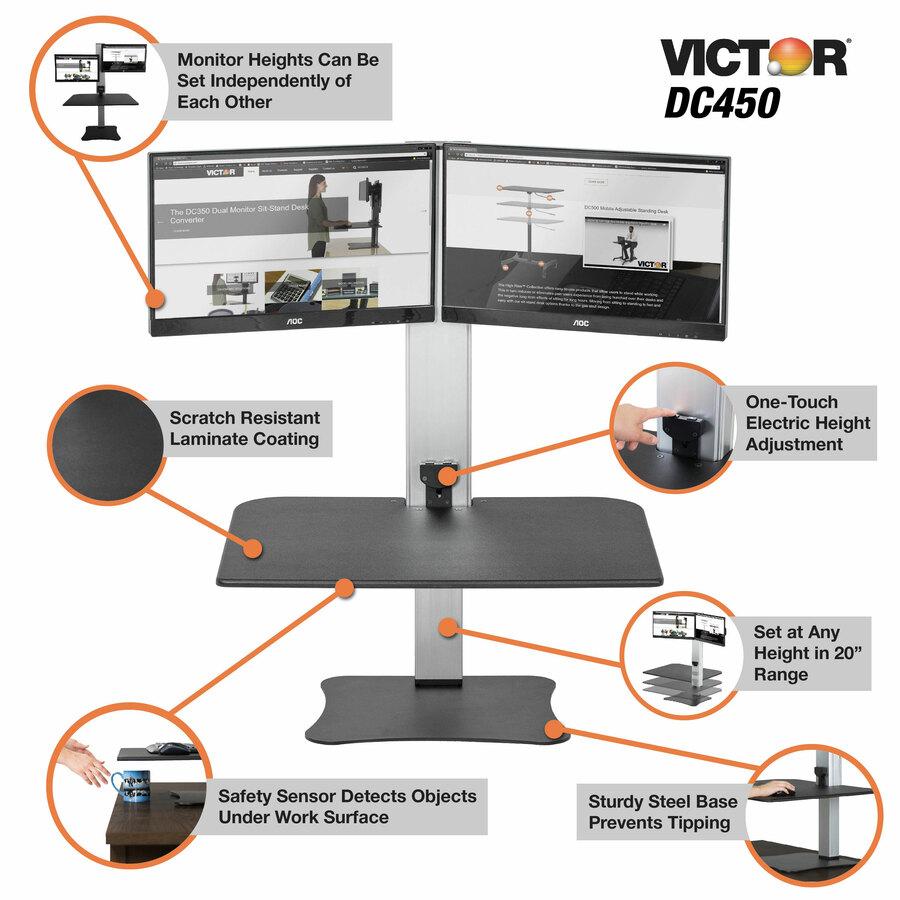 Victor Dc450 Electronic Standing Desk Workstation Vct