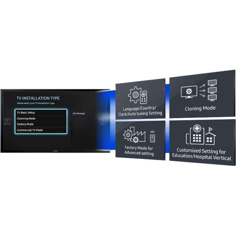 Samsung HE670 HG49EE670DK 123 cm LED-LCD TV - HDTV - Dark Titan - LED  Backlight - Dolby Digital Plus, DTS