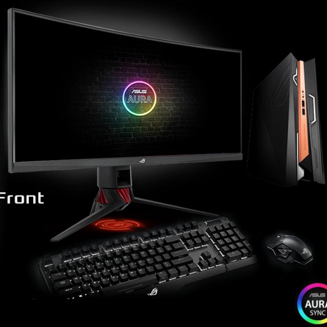 Asus ROG Strix XG35VQ 88.9 cm 35inch UW-QHD Curved Screen WLED Gaming LCD Monitor - 21:9 - Dark Grey - 3440 x 1440 - 16.7 Million Colours - FreeSync - 300 cd/mAnd#178;