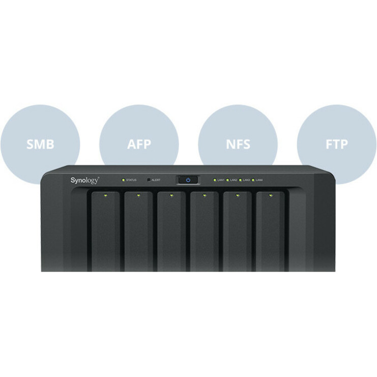 Synology DiskStation DS1618plus 6 x Total Bays SAN/NAS Storage System - Desktop - Intel Atom C3538 Quad-core 4 Core 2.10 GHz - 6 x HDD Supported - 6 x SSD Supported -
