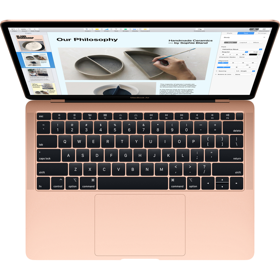 Apple MacBook Air MREE2B/A 33.8 cm 13.3And#34; Notebook - 2560 x 1600 - Core i5 - 8 GB RAM - 128 GB SSD - Gold