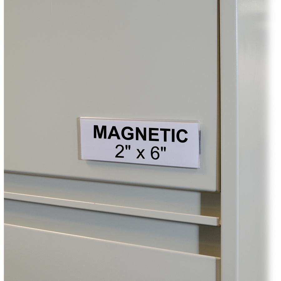 C Line Hol Dex Magnetic Shelf Bin Label Holders Cli87247