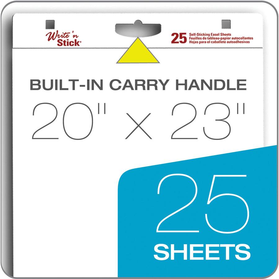 Adams Write 'n Stick Easel Pad - 25 Sheets - 20 lb Basis Weight - 20