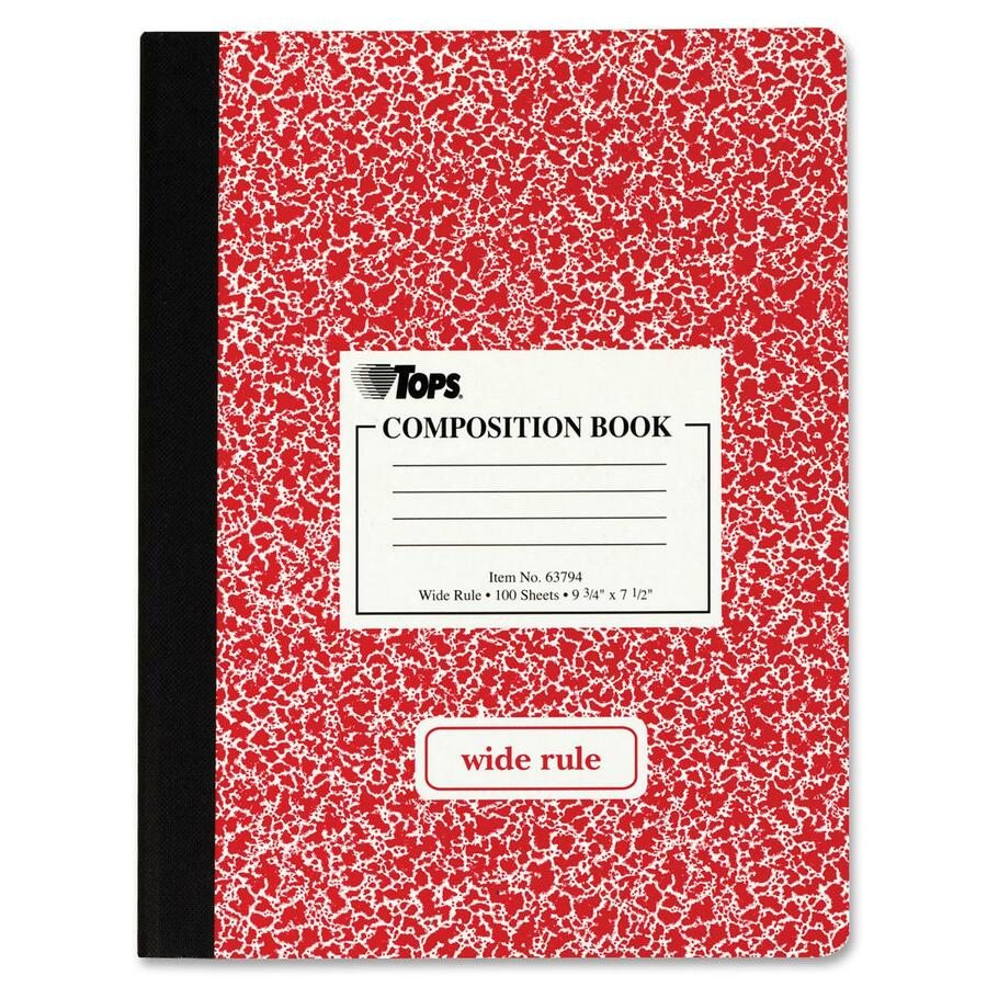 Tops Wide Ruled Composition Books 100 Sheets Sewn