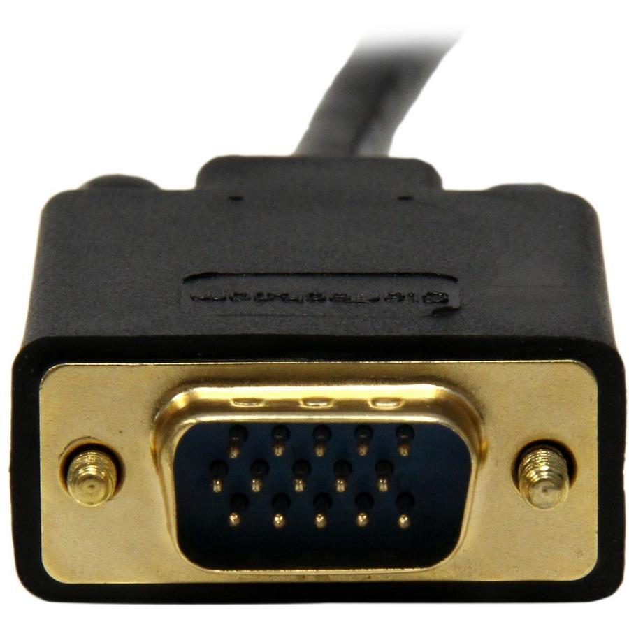 StarTech.com 6 ft DisplayPort to VGA Adapter Converter Cable - DP to VGA 1920x1200 - Black