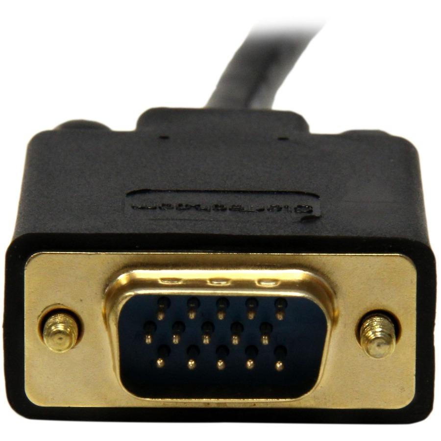 StarTech.com 10 ft Mini DisplayPort to VGA Adapter Converter Cable - mDP to VGA 1920x1200 - Black