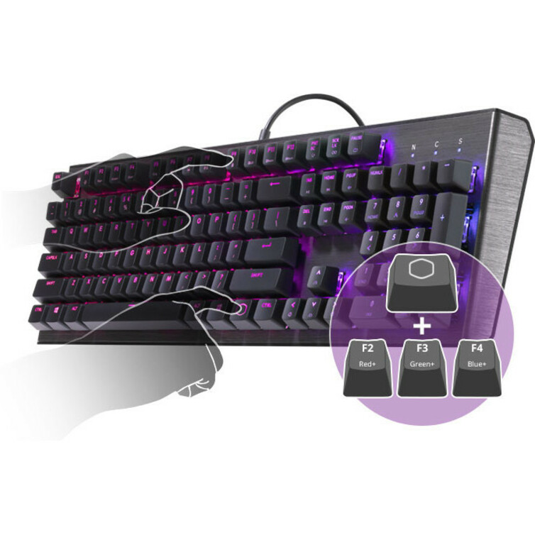 Cooler Master CK550 Mechanical Gaming Keyboard - Cable Connectivity - Gunmetal Black