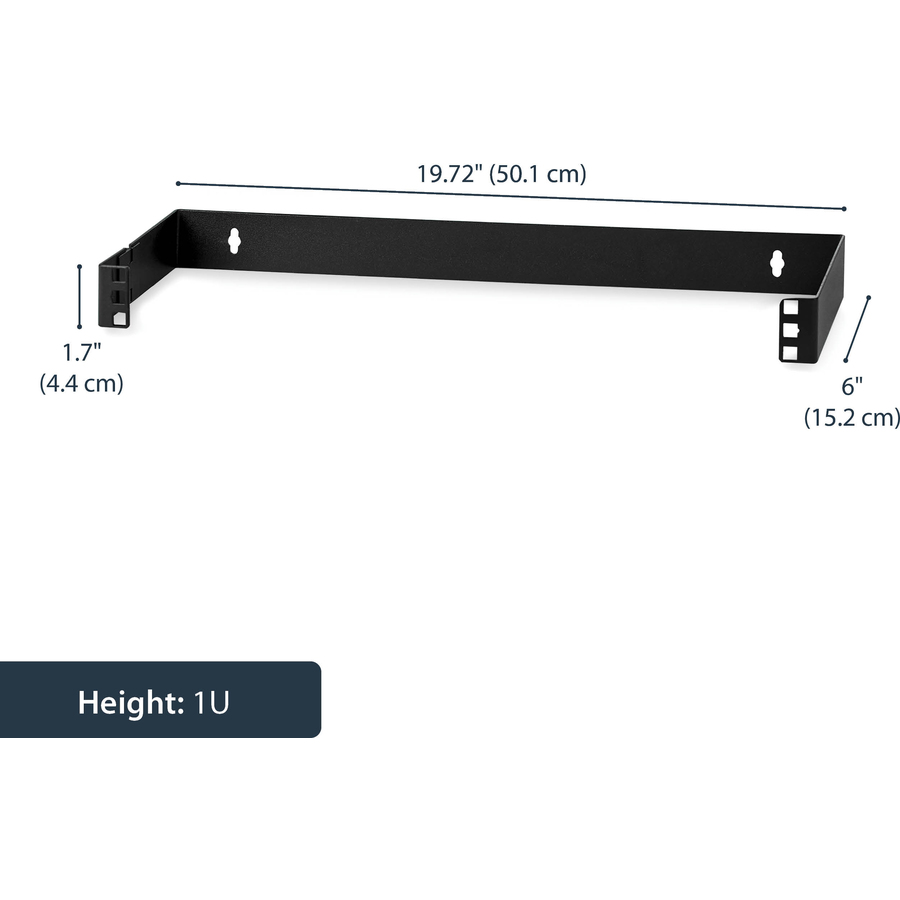 StarTech.com 1U 19in Hinged Wall Mounting Bracket for Patch Panels - Steel